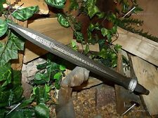 Short Sword/Knife/Blade/T.Wolf/Damascus/Double edged/Medieval/SCRATCH & DENT