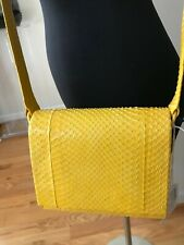 NANCY GONZALEZ YELLOW PYTHON CROSSBODY BAG. NEW WITH TAGS