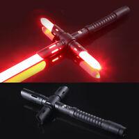 Star Wars Lightsaber Kylo Ren Metal Black Prop Cross Sword Breathing Red Light