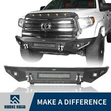 Steel Front Bumper Bar w/ 3 LED Lights for Toyota Tundra 2014-2020 Hooke Road