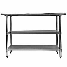 Stainless Steel Top Work Table 33 78 X 24 With Two Under Shelves Adjustable