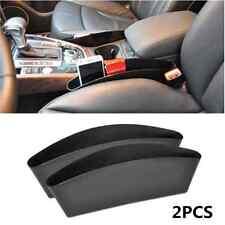 2Pcs Black Catch Catcher Storage Organizer Box Caddy Car Auto Seat Slit Pocket