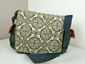 OiOi Australia Baby Changing Bag, Messenger Style Floral Geometric Design