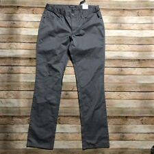 Kenneth Cole Grey 5 Pocket Chino Pants Trousers 34 34 Lightweight