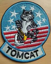 F-14 tomcat patch us flag  hook and loop vel back Top Gun US Navy