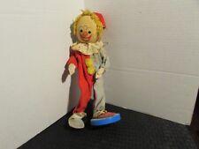 """Vintage Dakin DREAM DOLL 12"""" Red & Grey w/ Stand Clown"""