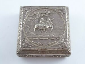 VICTORIAN SOLID STERLING SILVER SNUFF TRINKET BOX BERTHOLD MULLER 1896 106 g