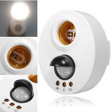 E27 Infrared Motion PIR Sensor Adjustable Delay LED Light Lamp Holder Switch New