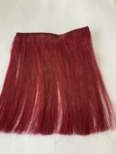 """5"""" Human Hair Extensions streaks Bangs # Burgundy 4"""" Wide"""