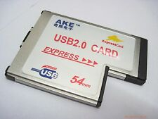 New ExpressCard Express 54mm to 2 USB 2.0 Port pcmcia converter card