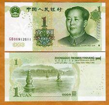 China, 1 Yuan, 1999, P-895, UNC