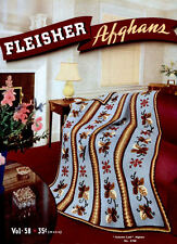 Fleisher's #58 c.1939 Vintage Patterns for Colorful Crochet Afghans