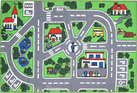 3x5 Area Rug Kids Play Road Street City Country Map Fun
