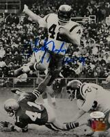 Charley Taylor Autographed Washington 8x10 B&W Hurdle Photo W/ HOF- JSA W Auth