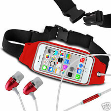 For ZTE Open L Running Fitness Sports Waistband Case & Handsfree