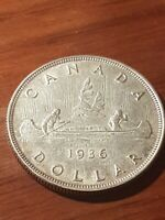 ➡➡1936 CANADA SILVER DOLLAR King George V $1 399,600 minted
