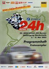 ADAC 24h Rennen Nürburgring 5/05 2005 Programmheft Programm Nurburgring race