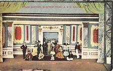 c.1910 Stage Set Electric Park Kinderhook NY post card Columbia county Amusement