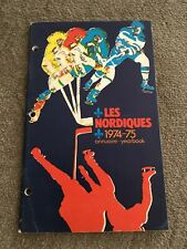 1974-75 Quebec Nordiques WHA Team Signed Yearbook 20 Autographs!