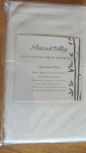 Peacock Alley Soft 100% Rayon from Bamboo Standard Pair White