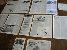 MICROLIGHTS & HELICOPTERS  Articles / adverts 1978-1983 plus BAC Drone, Avro 504