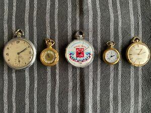 5 antike Taschenuhren