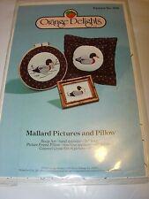 CRAFT PATTERN PROJECT FABRIC SEWING STUFFED MALLARD DUCK HOME DECOR PILLOW ART
