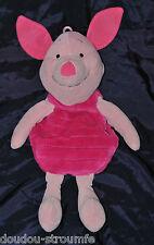 Peluche Doudou Range Pyjama Porcinet DISNEY JEMINI Rose 2 Tons 45 Cm TTBE