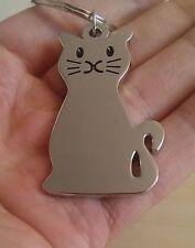 BRAND NEW KITTY CAT KITTEN METAL KEY CHAIN KEYRING KEY FOB KEY RING -UK SELLER