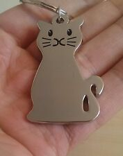 BRAND NEW KITTY CAT KITTEN METAL KEY CHAIN KEYRING -UK SELLER IMMEDIATE DISPATCH