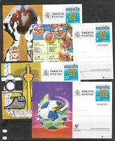 Mundial de Futbol España 82 Enteros postales año 1982 (EU-83)