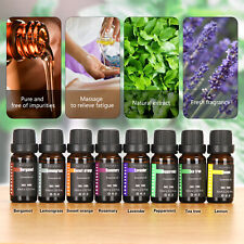8Pcs/set 100% Natural Pure 10ml Essential Oils Aromatherapy Fragrance Aroma