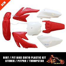 RED/WHITE Plastics Guard Fairing Fender for CRF70 160cc 150cc PIT PRO Dirt Bike