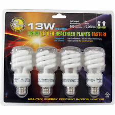 SunBlaster 13 Watt CFL Indoor Plant Grow Lamp Natural Light Bulb Set w/ 4 Bulbs