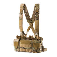 OneTigris Airsoft Combat Chest Rig Tactical Hunting Molle Vest w/ Magazine Pouch