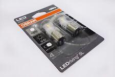 Osram P21/5W x2 LED Cool White Bulbs 6000k Indicator Fog Rear Light Pair Set