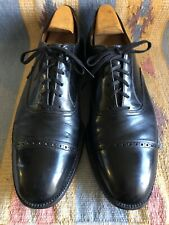 Vtg MacPhergus Black Leather Cap Toe Oxford Dress Shoes Size 11 D