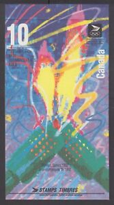 CANADA BOOKLET BK144a 42c x 10 OLYMPIC WINTER GAMES, FLAME AT RIGHT, GLUED FLAP