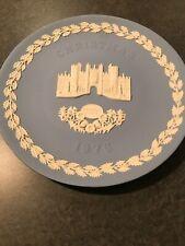 Wedgwood Jasperware Christmas Plate - Hampton Court - 1976
