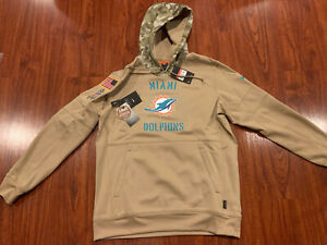Nike Men's Miami Dolphins Salute To Service Hoodie Sweatshirt Large L NFL