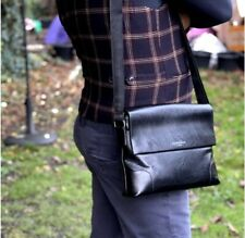 Amelia Rose London Wide Neat Leather Daily Need Messenger Crossbody Shoulder Bag
