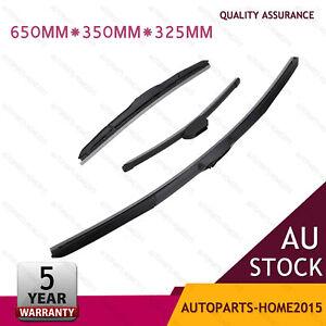 "Front + Rear Windscreen Wiper blades for Hyundai i30 GD GD2 12-17 26""+14""+13"" AU"