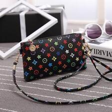 Women Girl Messenger Bag PU Leather Satchel Lady Handbag Shoulder Bags bag Black