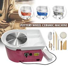 Multi-colored Electric Pottery Wheel Machine 25CM Ceramic Clay Craft Molding
