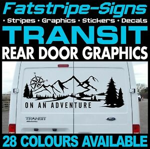 FORD TRANSIT ADVENTURE MOUNTAINS CAMPING CAMPER VAN STICKERS GRAPHICS DECALS ST
