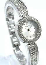 Henley Designer Ladies Silver Tone Dress Watch with Sparkling Crystals Gift Idea