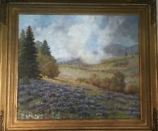 Royal H Milleson (1849-1936) Well Listed - Large Oil Painting Mountain Landscape