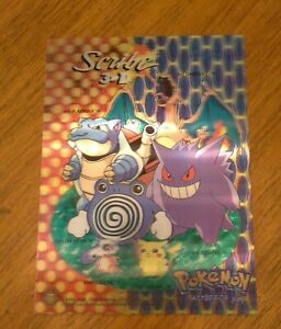 Vintage Nintendo Pokemon Store Display Promo 3D Sign Charizard Pikachu Rare Card