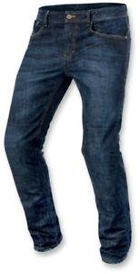 Alpinestars Men's Size 38 Copper Dark Blue Denim Street Motorcycle Jeans