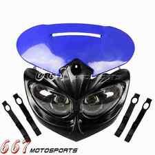 Blue Headlight Head Lamp Fairing For Yamaha YZ250F YZ400 YZ250 YZ250F YZ80 YZ85